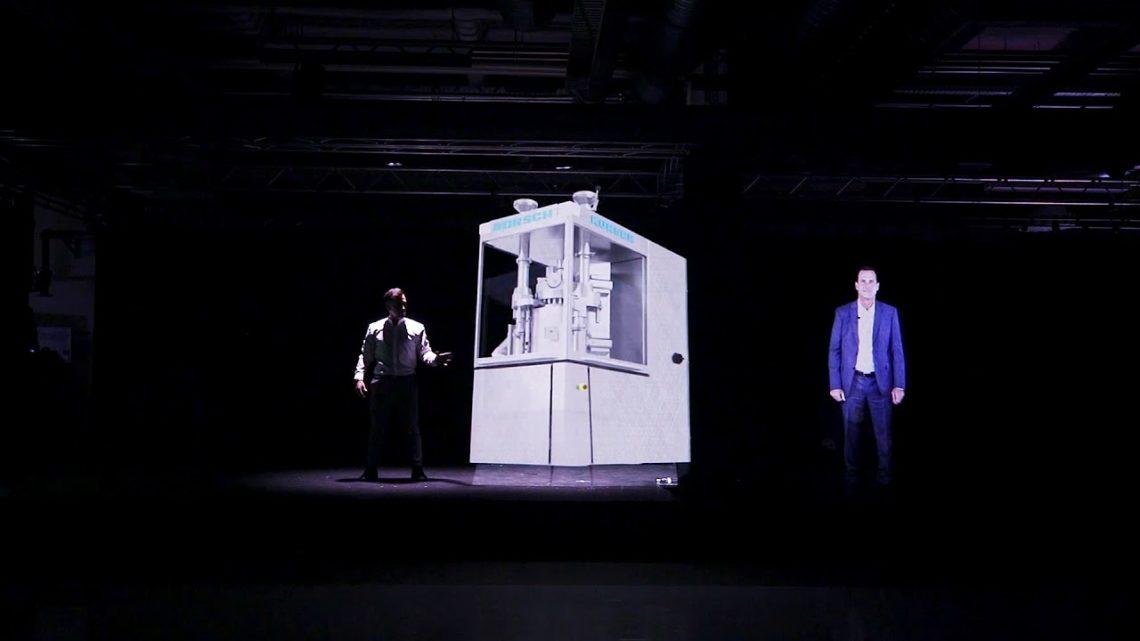 Holographie Präsentation Maschine