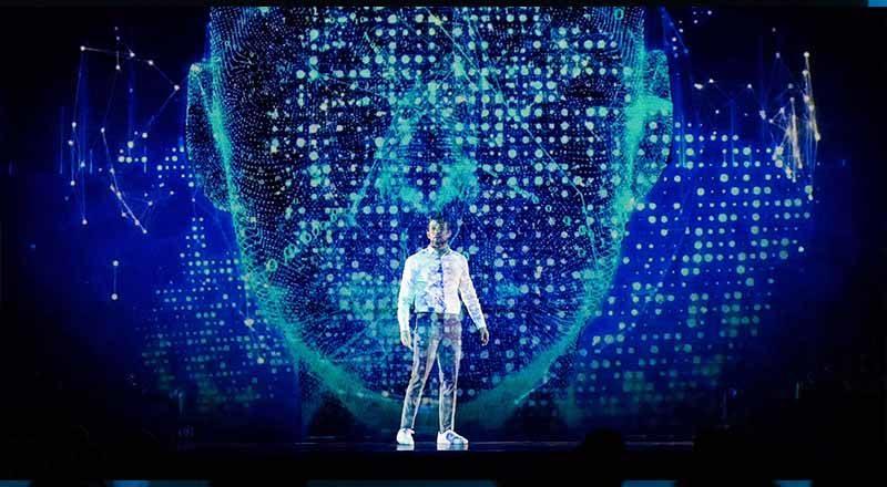 Hologramm Show